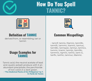 Correct spelling for tannic