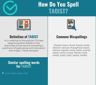 Correct spelling for taoist