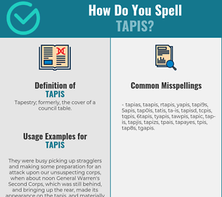 Correct spelling for tapis