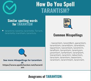 Correct spelling for tarantism