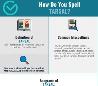 Correct spelling for tarsal