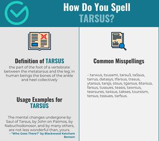 Correct spelling for tarsus