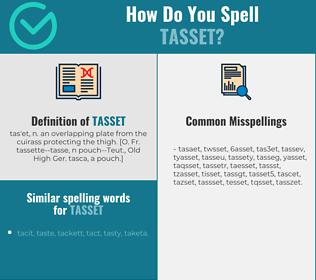 Correct spelling for tasset