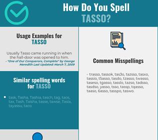 Correct spelling for tasso