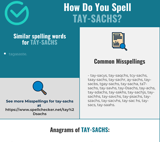 Correct spelling for tay-sachs