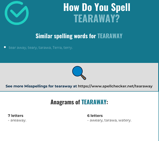 Correct spelling for tearaway