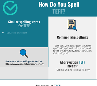 Correct spelling for teff