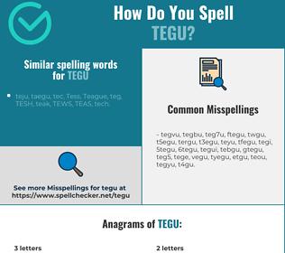 Correct spelling for tegu