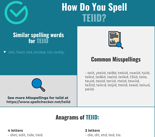 Correct spelling for teiid