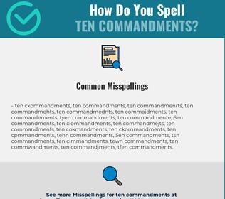 Correct spelling for ten commandments