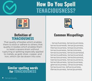 Correct spelling for tenaciousness