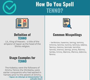 Correct spelling for tenno