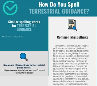 Correct spelling for terrestrial guidance