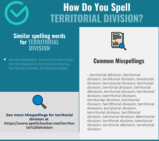 Correct spelling for territorial division