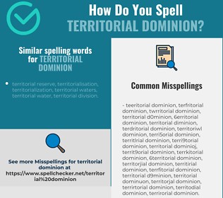 Correct spelling for territorial dominion