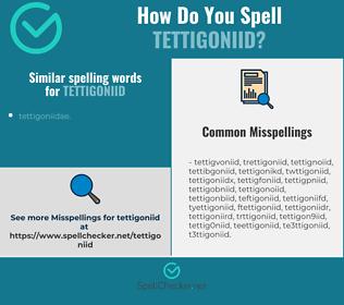 Correct spelling for tettigoniid