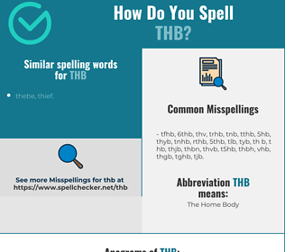 Correct spelling for thb