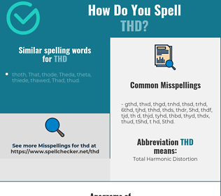 Correct spelling for thd