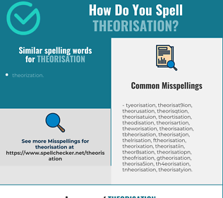 Correct spelling for theorisation