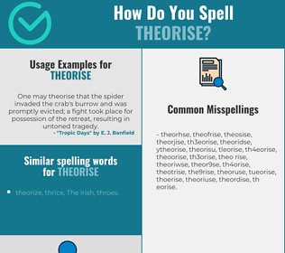 Correct spelling for theorise