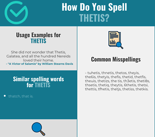 Correct spelling for thetis