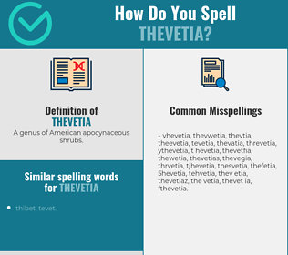 Correct spelling for thevetia