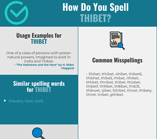 Correct spelling for thibet