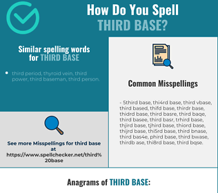 Correct spelling for third base