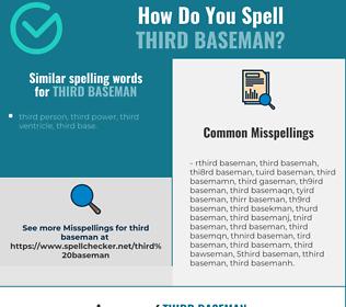Correct spelling for third baseman
