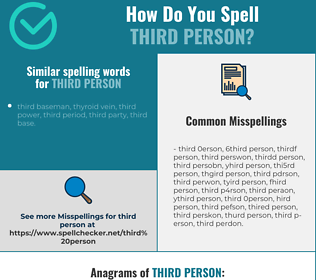 Correct spelling for third person