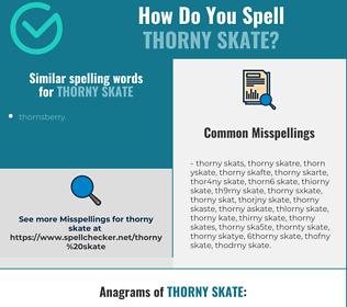 Correct spelling for thorny skate