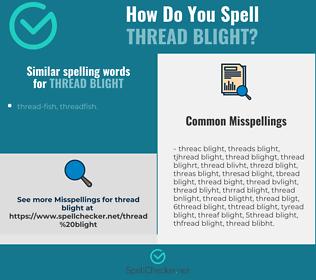 Correct spelling for thread blight