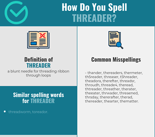 Correct spelling for threader