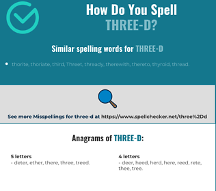 Correct spelling for three-d