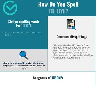 Correct spelling for tie dye