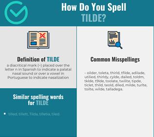 Correct spelling for tilde