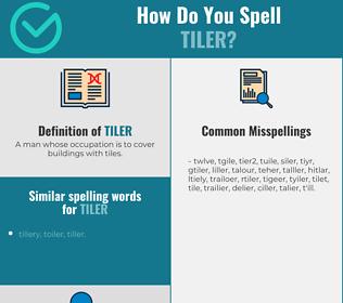 Correct spelling for tiler