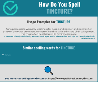 Correct spelling for tincture