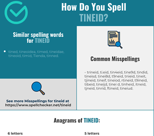 Correct spelling for tineid
