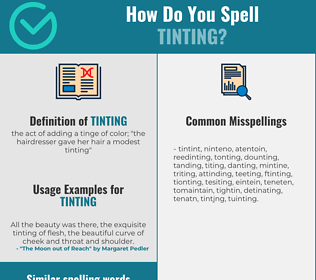 Correct spelling for tinting