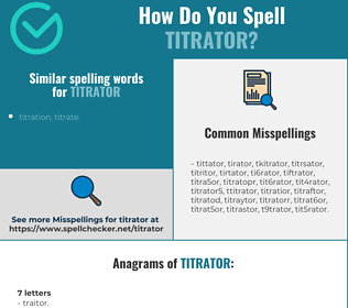Correct spelling for titrator