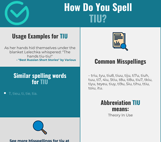 Correct spelling for tiu