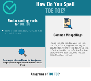 Correct spelling for toe toe