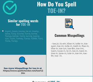 Correct spelling for toe-in