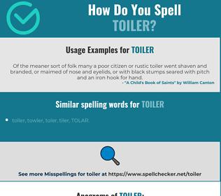Correct spelling for toiler