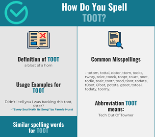 Correct spelling for toot