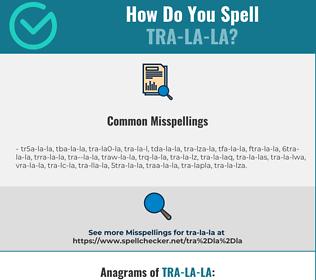 Correct spelling for tra-la-la