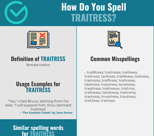 Correct spelling for traitress