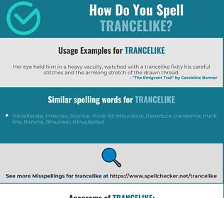 Correct spelling for trancelike