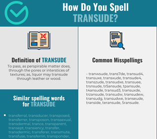 Correct spelling for transude